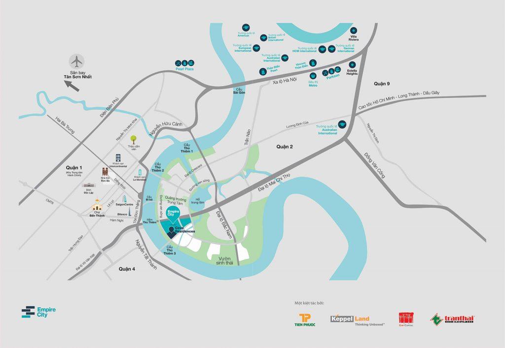 Bản đồ vị trí dự án Empire City