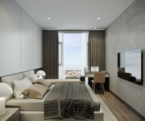 Căn hộ Empire City 1 phòng ngủ thiết kế mẫu
