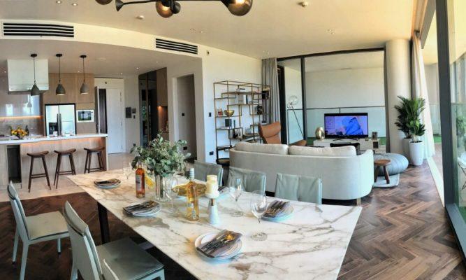 Nhà bếp căn hộ Empire City 2 phòng ngủ
