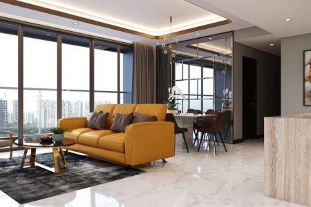 Phòng khách căn hộ Empire City cao cấp