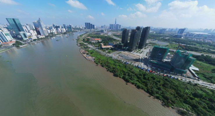 Sông Sài Gòn bao quanh dự án căn hộ Empire City